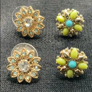 BUNDLE OF 2 PAIRS OF J. CREW STUD EARRINGS